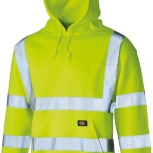 Dickies Hi Vis Hooded Sweatshirt Front