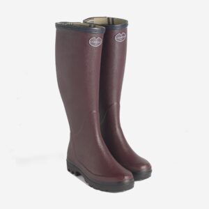 Le Chameau Giverny Jersey Boots in Cherry Colour